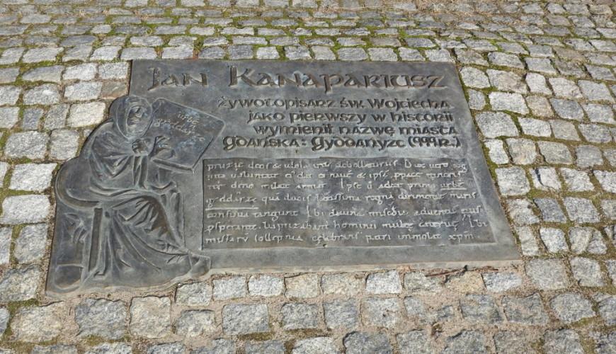 Płyta Kanapariusza - upamiętnienie pierwszej pisemnej wzmianki o Gdańsku