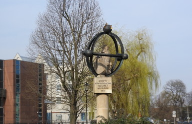 Stary pomnik Jana Heweliusza