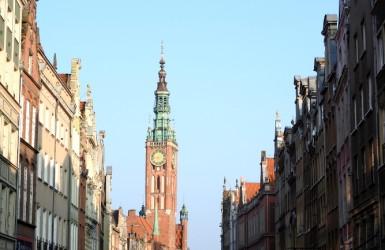 Ratusz Głównego Miasta - widok od strony ulicy Długiej