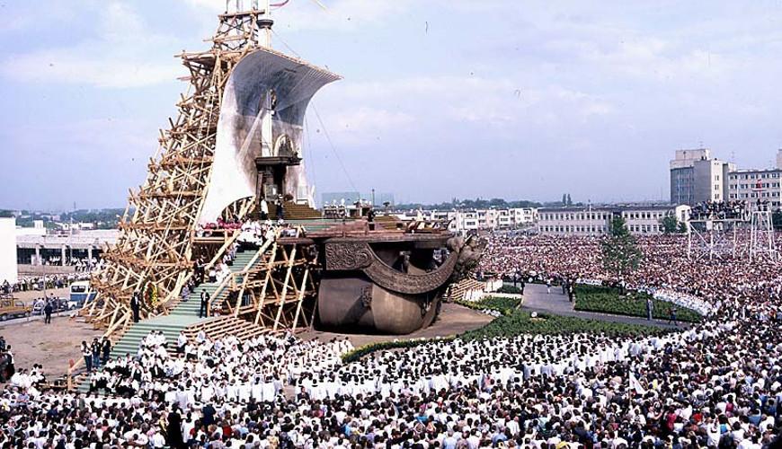 Msza papieska. 12 czerwiec 1987 r. Źródło: www.solidarnosc.gda.pl