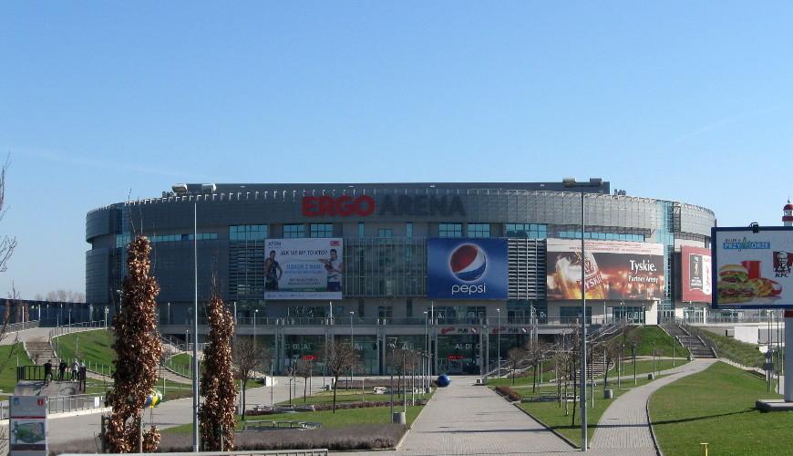 Hala Ergo Arena - na granicy Gdańska i Sopotu