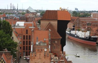 Żuraw - największy dźwig portowy średniowiecznej Europy