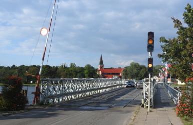 Most pontonowy w Sobieszewie niedawno odszedł do historii...