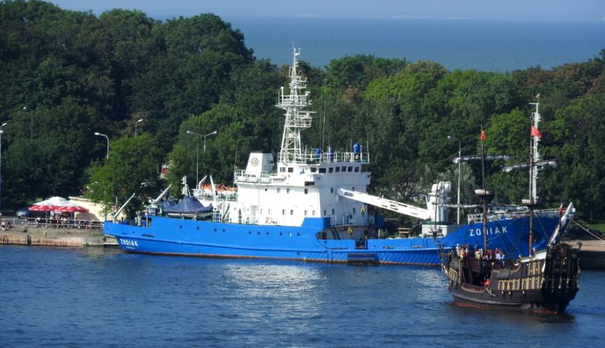 Statek Zodiak i galeon Lew