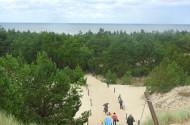 Wydma Czołpińska, w oddali Morze Bałtyckie