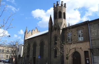 Kościół przy ul. Łąkowej - początkowo szpitalna kaplica