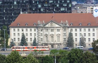 Budynek był wybitnym połączeniem elegancji i nowoczesności. Widok z Góry Gradowej