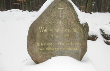 Pomnik leśniczego Waldemara Heusmanna