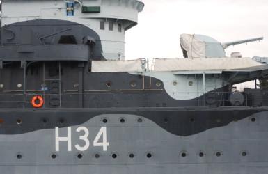 H34 - numer taktyczny ORP Błyskawica podczas II wojny światowej