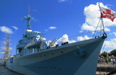 ORP Błyskawica przy Nabrzeżu Pomorskim