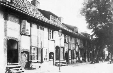 Zabudowa dawnej Wiadrowni. Źródło: Encyklopedia Gdańska