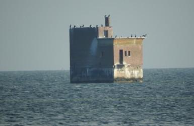 Stanowisko obserwacyjne poligonu torpedowego z czasów II wojny światowej