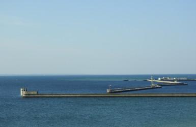 Zatoka Pucka. Widok z wieży Muzeum Rybołówstwa w Helu