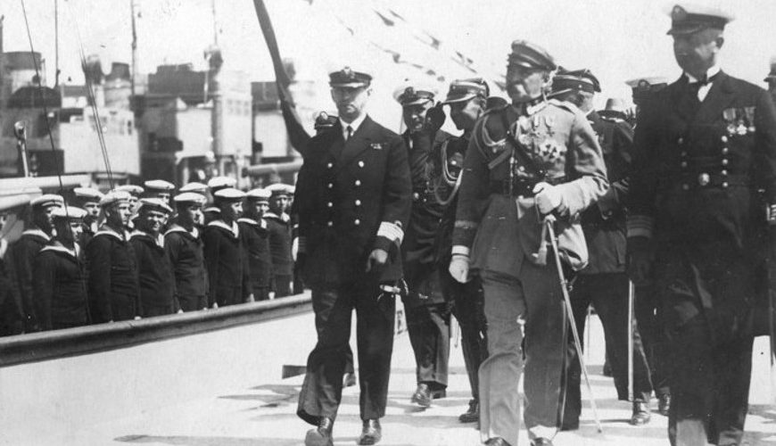 Przyjazd marszałka Józefa Piłsudskiego do Gdyni po pobycie na Maderze.