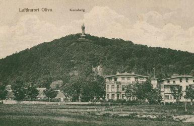 Oliwska panorama. W tle wzniesienie Karlsberg/Pachołek.
