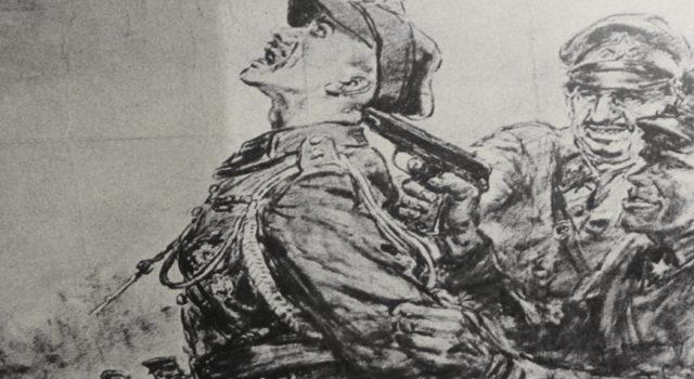 Katyń. Las śmierci. Niemiecki plakat propagandowy z 1943 r.