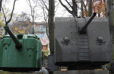Artyleria w gdyńskim skansenie.