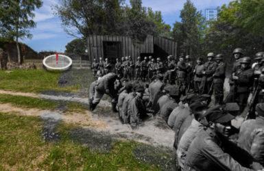 Mewi Szaniec i polscy żołnierze po kapitulacji.