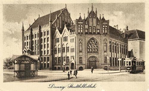 Danzig Stadtbibliothek około 1905 roku.