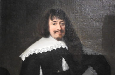 """Wystawa """"Portret w Gdańsku w XVI i XVII wieku"""". Portret Martina Opitza."""