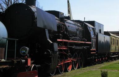 Skansen kolejowy działa od 1992 roku.