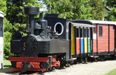 Skład wąskotorowy w Muzeum Kolejnictwa w Kościerzynie