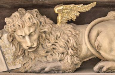 Wenecki motyw w nagrobku Nataniela Schrödera w kościele św. Jana w Gdańsku.