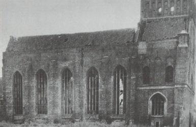 Ruiny kościoła od strony północnej.