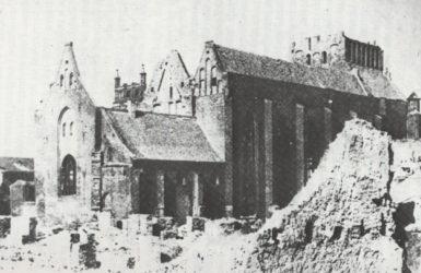 Kościół św. Piotra i Pawła po zakończeniu II wojny światowej.