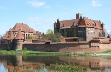 Zamek w Malborku od strony zachodniej.
