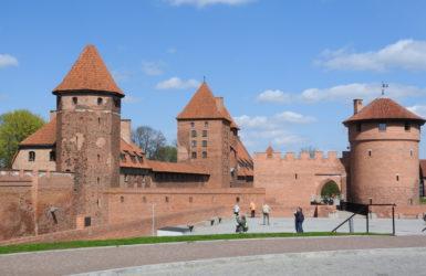 Zamek w Malborku od strony wschodniej.