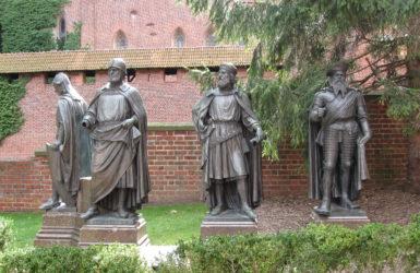 Wielcy mistrzowie Zakonu Krzyżackiego.