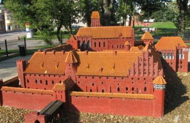 Makieta zamku w Malborku.