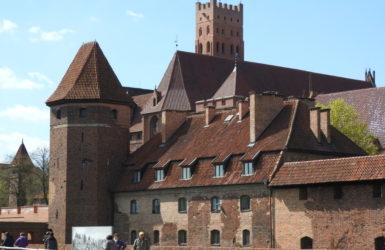 Zamek w Malborku przez prawie 150 lat był stolicą państwa Zakonu Krzyżackiego.