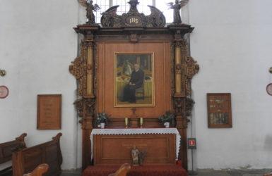 Ołtarz św. Klemensa ufundowany przez gdańskich piekarzy i cukierników.