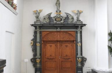 Portal zakrystii z 1644 roku.
