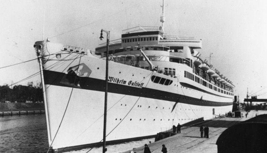 """""""Wilhelm Gustloff"""" jako statek szpitalny. Źródło: Bundesarchiv."""