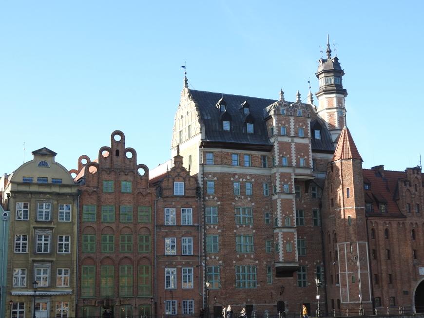 Kamienice nad Motławą - główna siedziba Muzeum Archeologicznego w Gdańsku