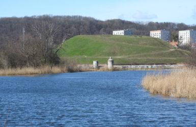 Opływ Motławy wyznacza północno-wschodnią granicę Olszynki.