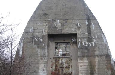 Betonowy schron powstał pod koniec II wojny światowej.