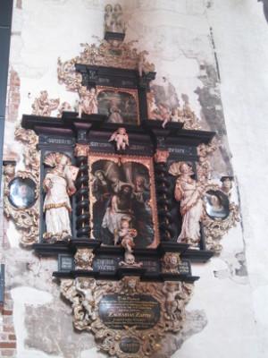 Epitafium Aldegundy Zappio w kościele św. Jana.