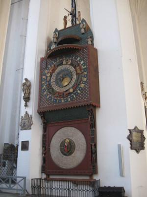 Zegar Astronomiczny w kościele Mariackim.