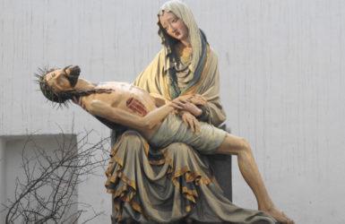 Gotycka Pieta z kościoła Mariackiego.