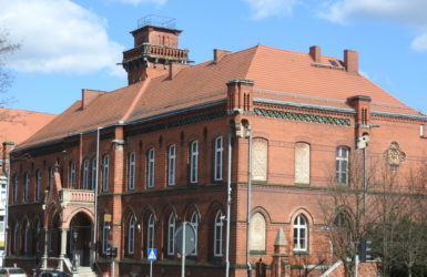 Zespół budynków pocztowych powstał pod koniec XIX wieku.