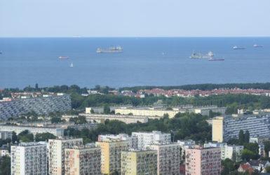 Ujęcie Zatoki Gdańskiej.