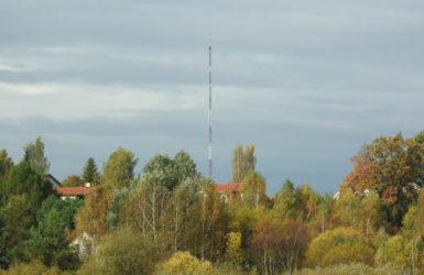 Maszt w Chwaszczynie - największa stacja nadawcza na Pomorzu Gdanskim.